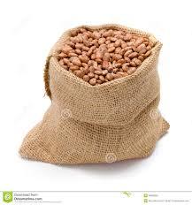 bag of beans. Beautiful Bag Pinto Beans In Burlap Bag In Bag Of Beans