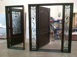 wrought iron exterior doors. Wood And Iron Front Doors Wrought Entry Exterior
