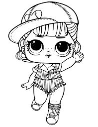 Short Stop Lol Dolls Coloring Page Rainbow Playhouse Coloring