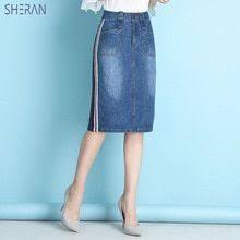 <b>SHERAN</b> 2018 <b>Women</b> Summer Denim Skirts Fashion High Waist ...