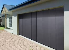 bypass sliding garage doors. Fine Doors Sliding Garage Doors Design In Grey Color Using Modern Decoration Combined  With Paver Flooring Style On Bypass O