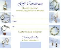 Making A Certificate Selling Gift Certificates For Your Jewelry Jewelry Making Journal