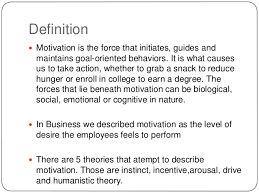 motivation of employees in the work place definition  motivation