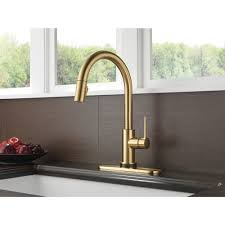Delta Touch2o Kitchen Faucet Trinsic Single Handle Pull Down Kitchen Faucet Featuring Touch2o