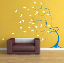 Small Picture Windy Tree Wall Art Design Wall art designs Tree wall art and