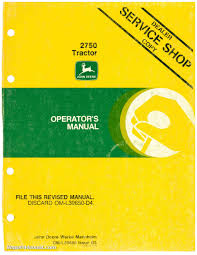 john deere 2750 tractor operators manual