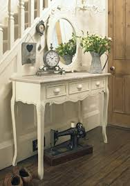 cream console table. Country Ash Range - Cream Wooden 3 Drawer Dressing/Console Table Console