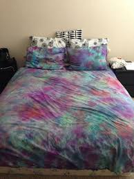 home accessory tie dye bedding water color colorful