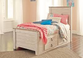 twin storage bed. Simple Bed Willowton Whitewash Twin Storage BedSignature Design By Ashley With Bed