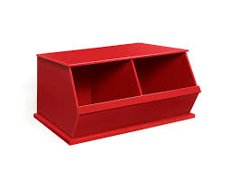 Amazon.com : Badger Basket Two Bin Storage Cubby, Red : Childrens ...