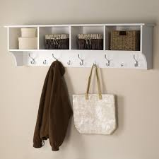 Wall Coat Rack With Storage Prepac 100 in WallMounted Coat Rack in WhiteWEC10016 The Home Depot 3