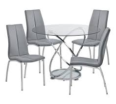 Round glass tables and chairs Dark Oak Glass Argos Home Atom Round Glass Table Chairs Grey Argos Buy Argos Home Atom Round Glass Table Chairs Grey Dining