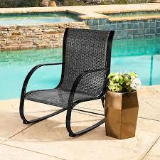black wicker rocking chair. Plain Wicker Madison Black Wicker Outdoor Rocking Chair In A