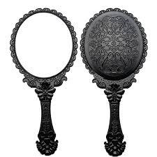 vintage mirror clipart. vintage oval hand held mirror clipart