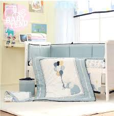 crib bedding sets 8 high end blue embroidery elephant baby crib bedding set bed skirt baby bed per in bedding sets from mother kids on group crib sheets