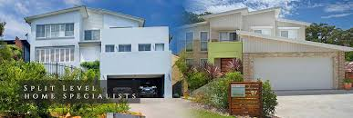 downward sloping low side of street home designs for side sloping house designs