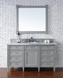 60 bathroom vanity with top. Contemporary 60 Inch Single Bathroom Vanity Gray Finish No Top For Sink Renovation With P