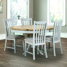 extending dining table and 6 chairs kitchen dining table set with round extending table and 4