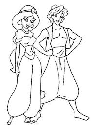 Small Picture Jasmine and Aladdin Coloring Sheets Coloring Pages