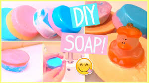 EASY DIY SOAP! MAKE YOUR OWN COLORFUL SOAPS! - YouTube