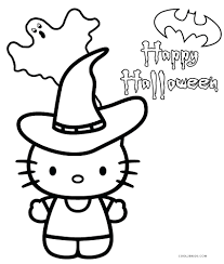 Free Printable Hello Kitty Coloring Pages For Throughout Halloween