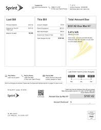 Equipment Bill Of Sale Template Classy Current Customers Learn About Your Monthly Bill Sprint Support