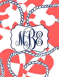 Monogrammed Binder Cover By Forgerful Elephant Designs