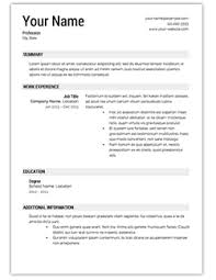One-Page Resumes