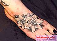 Tattoo Květiny Na Noze Móda 2017 časopis Módní Dámské 2017
