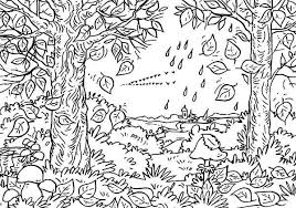 Small Picture Autumn Leaf in the Forest Coloring Page NetArt