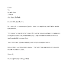 2 Week Resignation Letter Classy Formal Resignation Letter With 48 Weeks Notice New Business Letter