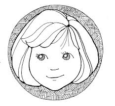 Small Picture Little Girl Face Coloring Page
