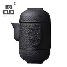 <b>TANGPIN</b> japanese <b>ceramic teapot</b> kettle <b>gaiwan</b> teacups portable ...