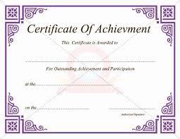 Free Printable Certificates Of Achievement Bkperennials
