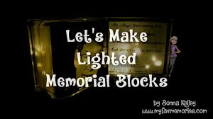 how to make a lighted memorial glass block 2017