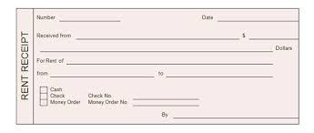 Rent Receipt Format For Income Tax Purpose Rent Receipt Form