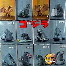 โมเดล ก็อตซิลล่า Godzilla และ คิงกิโดร่า น่ารัก หลายแอคชั่น มีทั้งหมด 12  แบบ ทุกแบบมีกล่องใส่ ส่วนสูงประมาณ 5-13 cm.