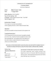 Medical Records Template Certification Of Medical Records Template Certificate Authenticity