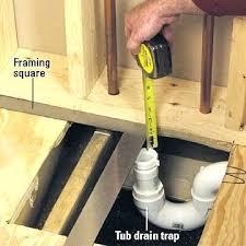 install tub drain kit installing bathtub drain installing a whirlpool tub how to install a new install tub drain kit