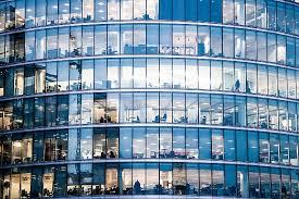office building facade. Office Buildings In The Night Stock Photo Building Facade E
