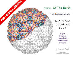 Small Picture Of The Earth DIGITAL Mandala Coloring Book PDF VERSION