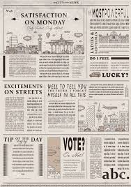 Creative Newspaper Template Design Of Old Vintage Newspaper Template