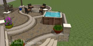 backyard raised patio ideas. Curvy Terraced Patio Design With Hot Tub · IdeasBackyard Backyard Raised Ideas G