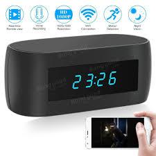 1080p hd wireless wifi alarm clock ip night vision app control audio recording
