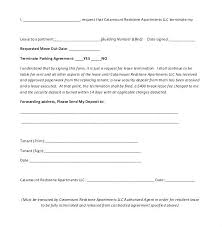 Sample Of Landlord Lease Termination Letter Apartment Template ...