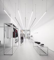 Linear Interior Design Linear Architectural Led Pendants Shop Interiors Clothing