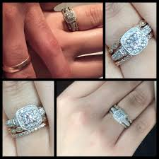 Engagement Ring And Wedding Band Different Sizes