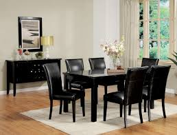 best black dining room set fabulous black table and chairs set alluring black dining room