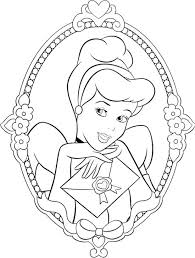 Beautiful Princess Cinderella Coloring Page Coloring Parties
