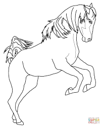 Printable Coloring Pages horse coloring pages to print for free : Running Arabian Horse coloring page | Free Printable Coloring Pages